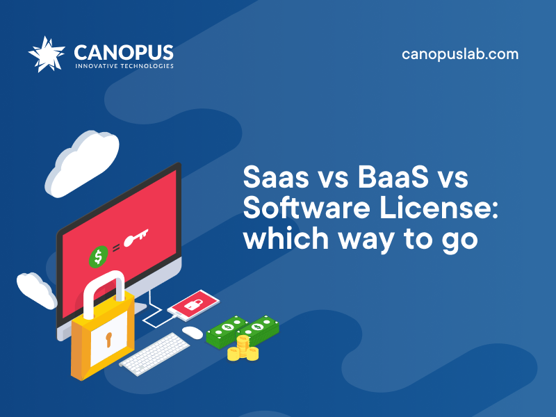 Saas vs BaaS vs Software License: which way to go