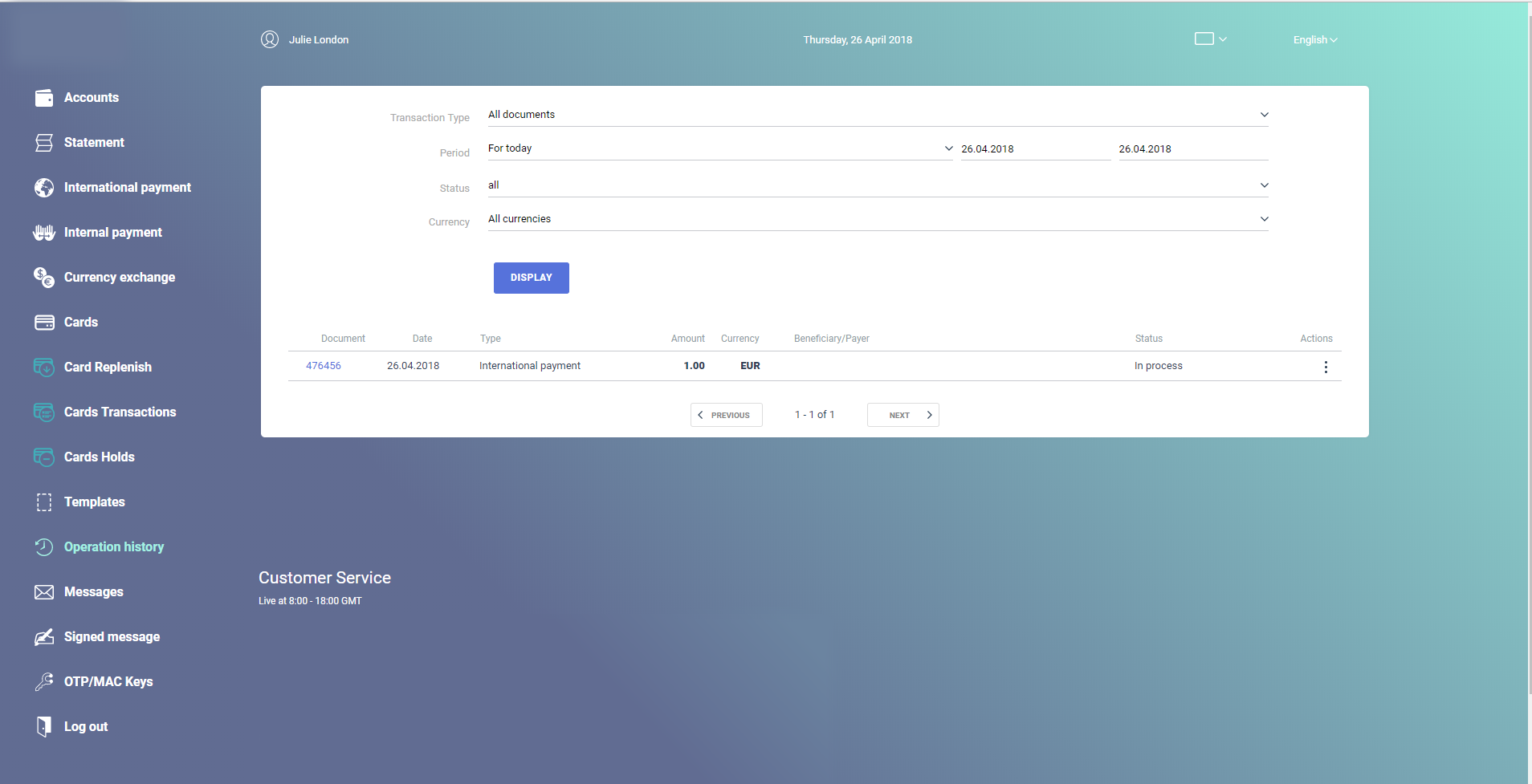 EpaySuite веб-банк